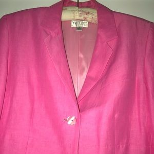 Long linen jacket